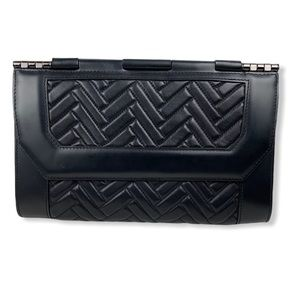 Mackage Black Quilted Leather Lela Clutch/Purse
